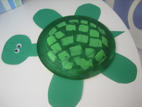 Paper Plate Turtle Step 2